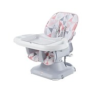 Fisher-Price SpaceSaver Fabric Kids High Chair, White/Gray (FLG98)