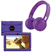 Contixo 7-Inch Kids Tablet, 16 GB w/Wireless Bluetooth Kids Headphones, Purple (843631146842)
