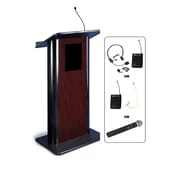 """Amplivox 49""""H Contemporary Flat Panel Lectern with Wireless Sound (SW3090)"""