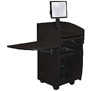 """Amplivox 45""""H Mobilite Lectern with Viewport, Black Finish (SN3645-BK)"""