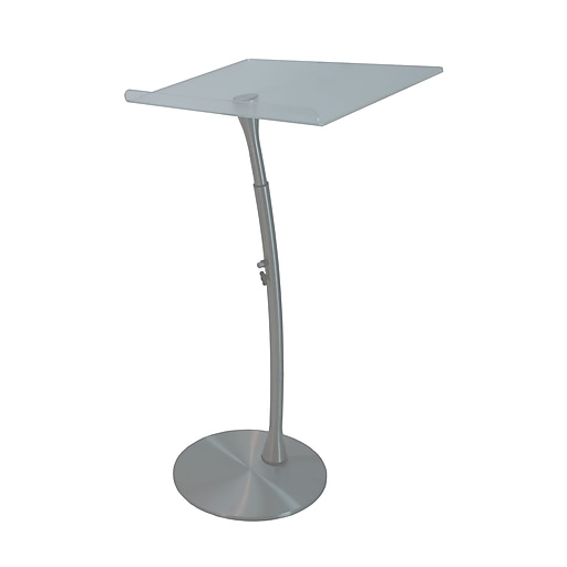 """Amplivox 50""""H x 28"""" Wide, Anti-Reflective Reading Surface, Adjustable Height Acrylic Steel Lectern (SN3200)"""