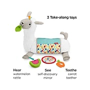 Fisher-Price Grow-with-Me Tummy Time Llama, White