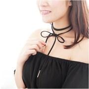 Zodaca Women's Fashion Vintage Wrap Around Choker Necklace Jewelry - Black/Gold (2309976)