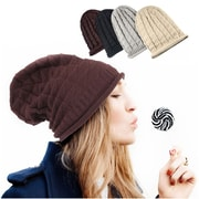 Zodaca Winter Women's Oversized Triangle Pattern Baggy Hat Crochet Beanie Knit Cap Warm Hats