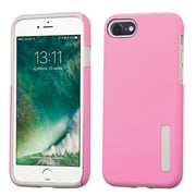 Insten Slim Hybrid Dual Layer Soft Hard Cover Case For Apple iPhone 7 - Pink/Gray