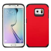 Insten Hard Dual Layer Silicone Cover Case For Samsung Galaxy S6 Edge - Red/Black