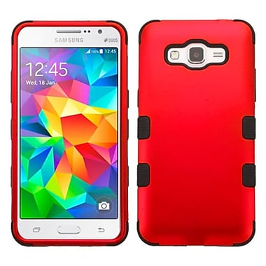 Insten Tuff Hard Dual Layer Rubber Coated Silicone Cover Case For Samsung Galaxy Grand Prime - Red/Black