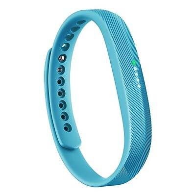 Zodaca For Fitbit Flex 2 - Large L Size TPU Rubber Wristband Replacement Wrist Band Sport Strap with Clasp - Mint Green