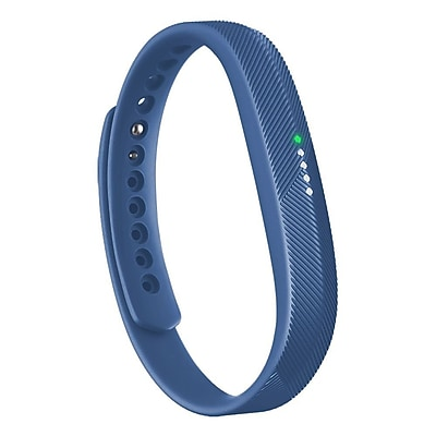 Zodaca For Fitbit Flex 2 - Large L Size TPU Rubber Wristband Replacement Wrist Band Sport Strap with Clasp - Blue