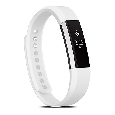 Zodaca For Fitbit Alta, Small S Size TPU Rubber Wristband Replacement Sports Watch Wrist Band Strap w/ Clasp, White