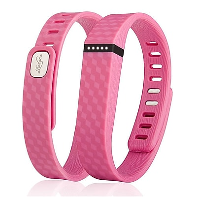Zodaca 3D TPU Wristband Replacement Small Band Bracelet Wireless Activity Tracker Clasp for Fitbit Flex Pink