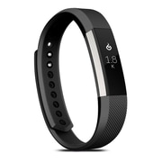 Zodaca For Fitbit Alta - Small S Size TPU Rubber Wristband Replacement Sports Watch Wrist Band Strap w/ Clasp - Black