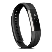 Zodaca For Fitbit Alta, Large L Size TPU Rubber Wristband Replacement Sports Watch Wrist Band Strap w/ Clasp, Black