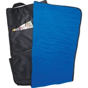 Natico Black Fleece with Canvas Backing Stadium Cushion Blanket (60-7704)