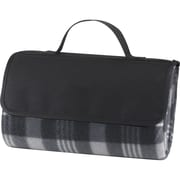 Natico Black Fleece with PVC Backing Picnic Blanket (60-7700-BK)