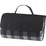 Natico Black Fleece with PVC Backing Picnic Blanket (60-7700-BK)
