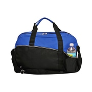 Natico Blue and Black Polyester Carry All Duffel Bag (60-DB-15BL)