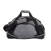 Natico Grey and Black Polyester All Sport Duffel Bag (60-DB-18GY)