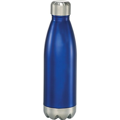Natico Blue Stainless Steel Water Bottle, 17 oz. (60-6475-BL)