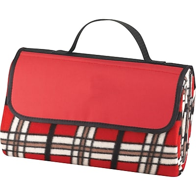 Natico Red Fleece with PVC Backing Picnic Blanket (60-7700-RD)