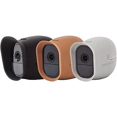 Wasserstein Silicone Skins for Arlo Smart Cameras, Black/Brown/Gray (NewArloProBlackBrownGreySkinUSA)