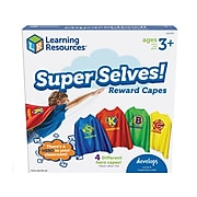 Learning Resources Super Selves! Reward Capes, Blue/Red/Green/Yellow, 4/Pack (LER6371)