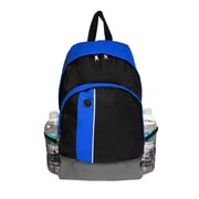 Natico Black and Blue Polyester School Backpack (60-BP-57BL)