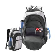 Natico Black and Grey Polyester Laptop Backpack (60-BP-65GY)