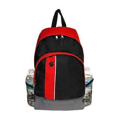 Natico Black and Red Polyester School Backpack