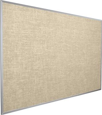 Best-Rite Vin-Tak Vinyl Bulletin Board, Aluminum Trim, Cotton Vinyl, 18'H x 24'W (311AA-46)