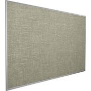 Best-Rite Vin-Tak Vinyl Bulletin Board, Aluminum Trim, Gray Vinyl, 4'H x 6'W (311AG-44)