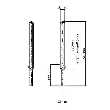 QualGear QG-SB-001-BLK Durable Universal Sound Bar Bracket
