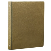JAM Paper® Fashion 3 Ring Binder, 1 Inch, Gold Glitter (373933553B)