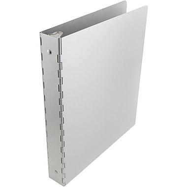 JAM Paper® Aluminum Binders, 1.5 Inch Width, Silver Aluminum