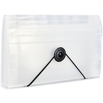 JAM Paper 13 Pocket Plastic Expanding File, Accordion Folders, Coupon Size, 4 1/4 x 6 3/4, Clear, Sold Individually (340133473)