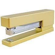 JAM Paper Modern Desktop Stapler, 10 Sheet Capacity, Gold (337GOZ)