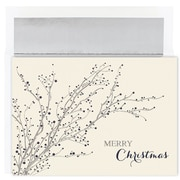 JAM Paper® Christmas Card Set, Blue Berry Branches Christmas Cards, 16/pack (526M0929MB)