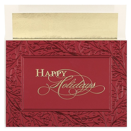 Shop Staples For JAM Paper® Christmas Card Set, Burgundy