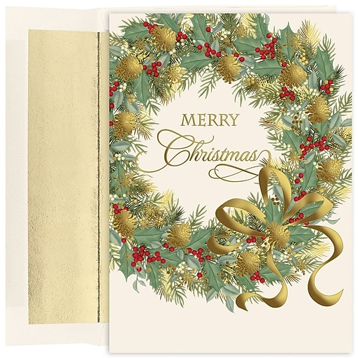 Shop Staples For JAM Paper® Christmas Card Set