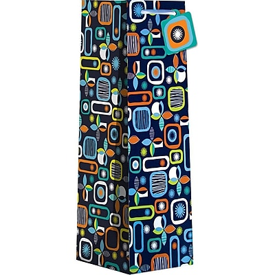 JAM Paper® Design Wine Bags, Mostly Mod, 120/case (678JBBT423)