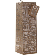 JAM Paper® Design Wine Bags, Sommelier, 120/case (678JBBT204)