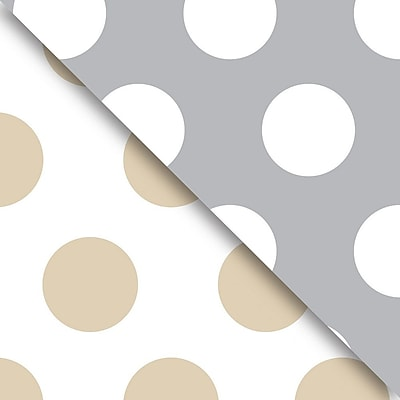 JAM Paper Industrial Size Wrapping Paper Rolls, Gold & Silver Dot, Full Ream (2082.5 Sq. Ft), Each (165J99030833)