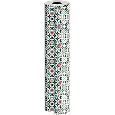 JAM Paper® Industrial Size Wrapping Paper Rolls, Optic Pleasure, 30