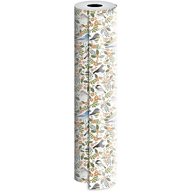 JAM Paper® Industrial Size Wrapping Paper Rolls, Birdie, 30