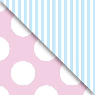JAM Paper Industrial Size Wrapping Paper Rolls, Pastel Pink & Blue, Full Ream (1666 Sq. Ft), Each (165J98524833)