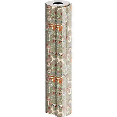 JAM Paper® Industrial Size Wrapping Paper Rolls, Krafty Fox, 30