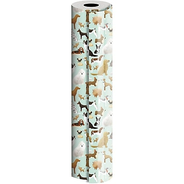 JAM Paper® Industrial Size Wrapping Paper Rolls, Best in Show, 24