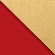 JAM Paper Industrial Size Wrapping Paper Rolls, Kraft Red & Gold, 1/2 Ream (1042.5 Sq. Ft), Each (165J99330417)