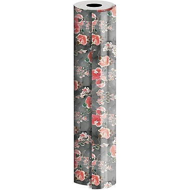 JAM Paper® Industrial Size Wrapping Paper Rolls, Blossom, 30
