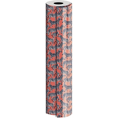 JAM Paper® Industrial Size Wrapping Paper Rolls, Zebras, 1/4 Ream (520 Sq. Ft), Sold Individually (165J15330208)